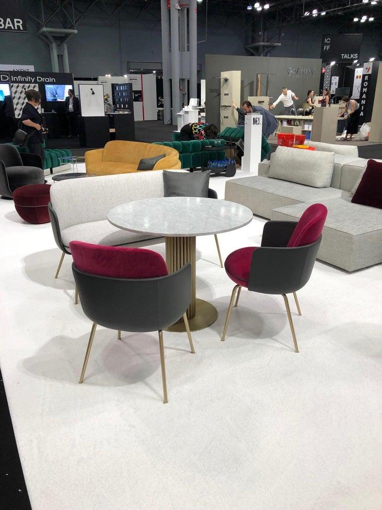 Austrian Wittmann Merwyn Armchairs, Sofa Bench and Miles Table by Sebastian Herkner For Sale