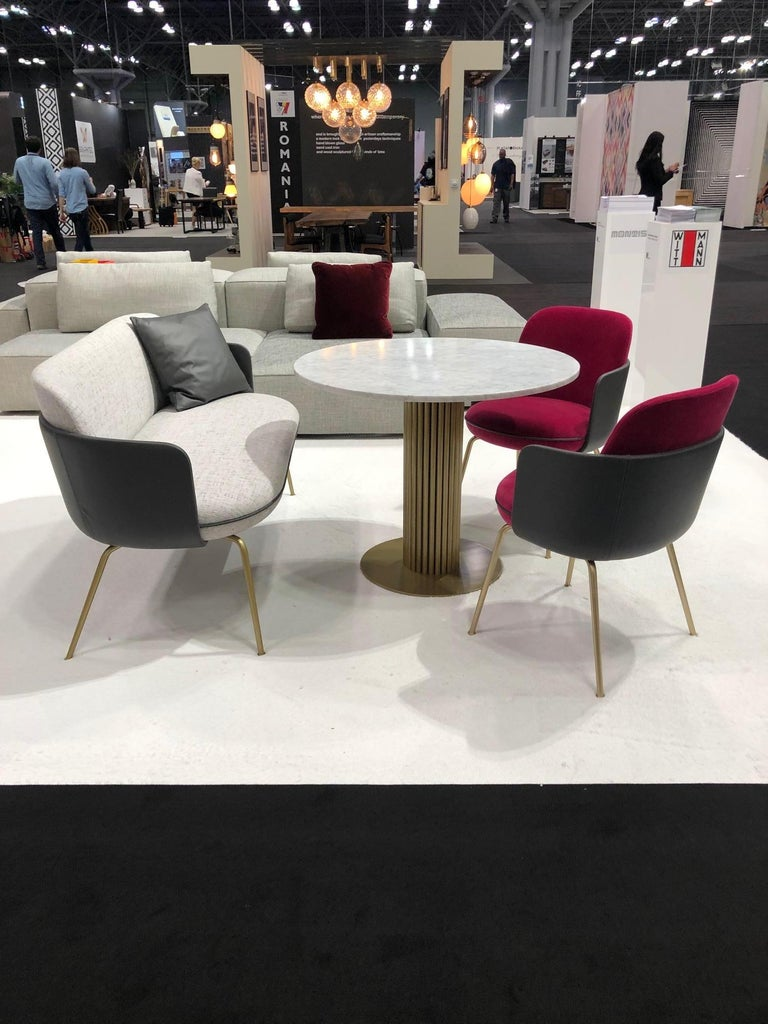 Contemporary Wittmann Merwyn Armchairs, Sofa Bench and Miles Table by Sebastian Herkner For Sale