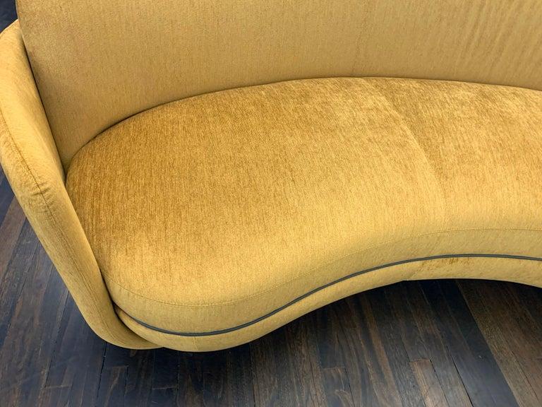 Austrian  Sebastian Herkner Miles Curved Sofa by Wittmann For Sale