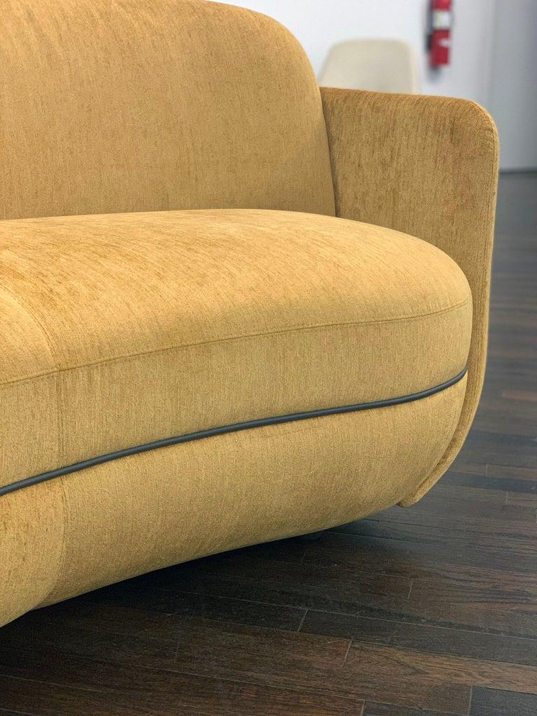 Contemporary  Sebastian Herkner Miles Curved Sofa by Wittmann For Sale
