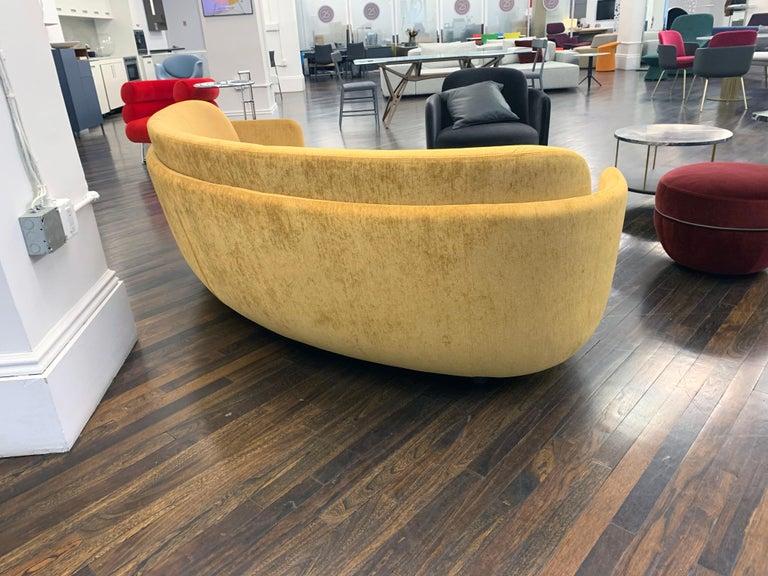 Velvet  Sebastian Herkner Miles Curved Sofa by Wittmann For Sale