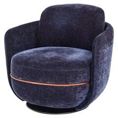 Wittmann Miles Lounge Swivel Armchair Designed by Sebastian Herkner