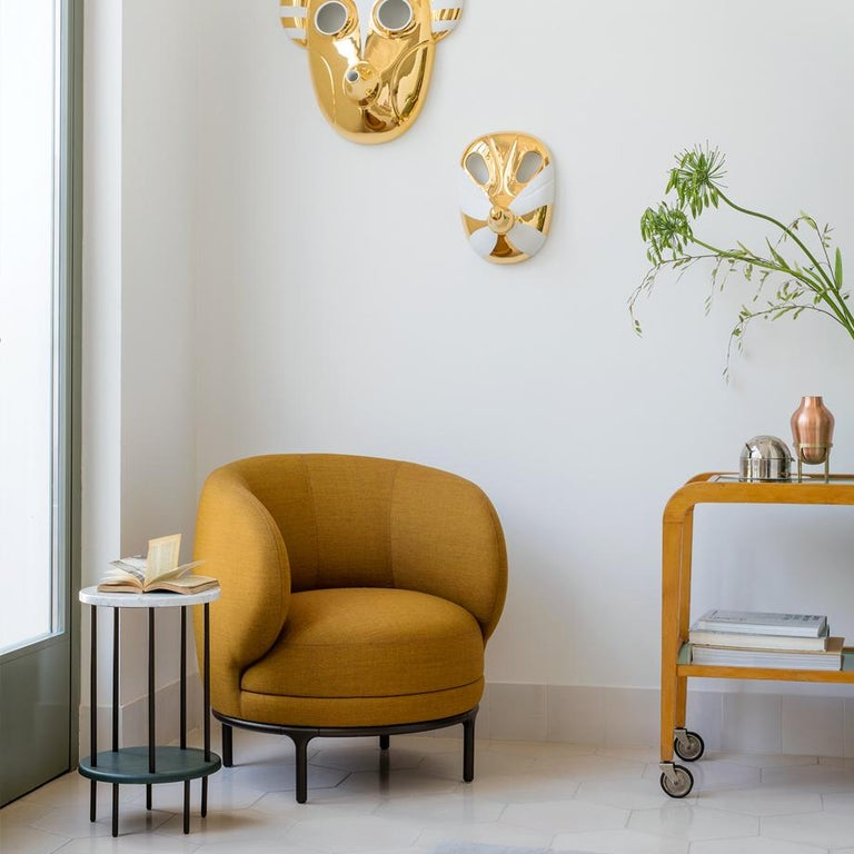 Wittmann Mustard Vuelta Armchair by Jaime Hayon In Excellent Condition For Sale In New York, NY