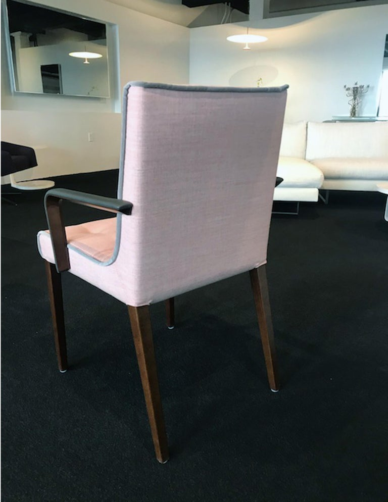 Modern Wittmann Set of Two Pink Leslie Armchairs For Sale