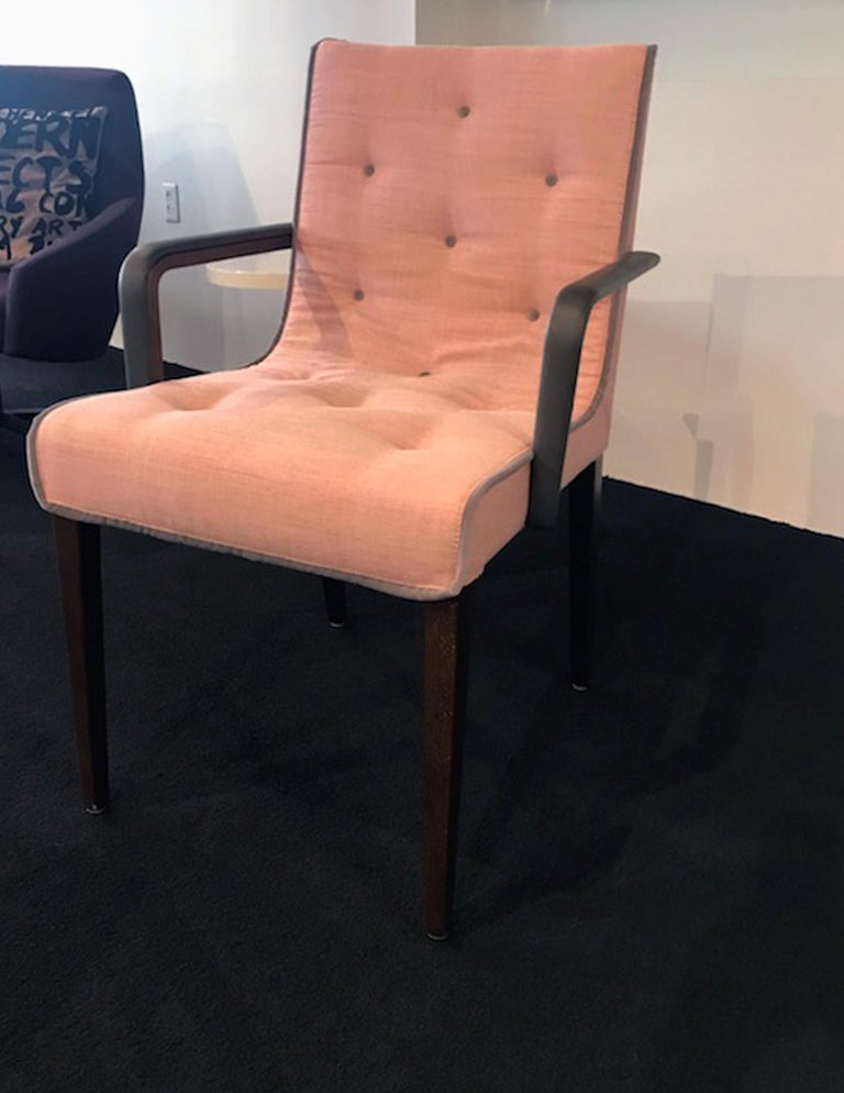 Wittmann Set of Two Pink Leslie Armchairs In Excellent Condition For Sale In New York, NY