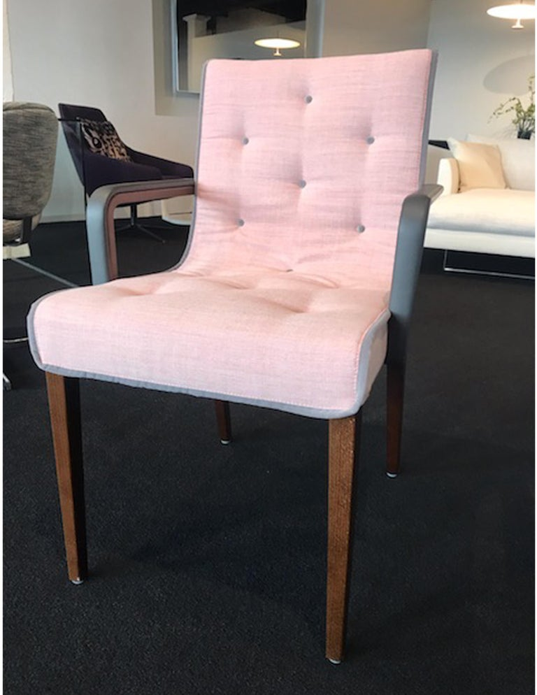 Beech Wittmann Set of Two Pink Leslie Armchairs For Sale