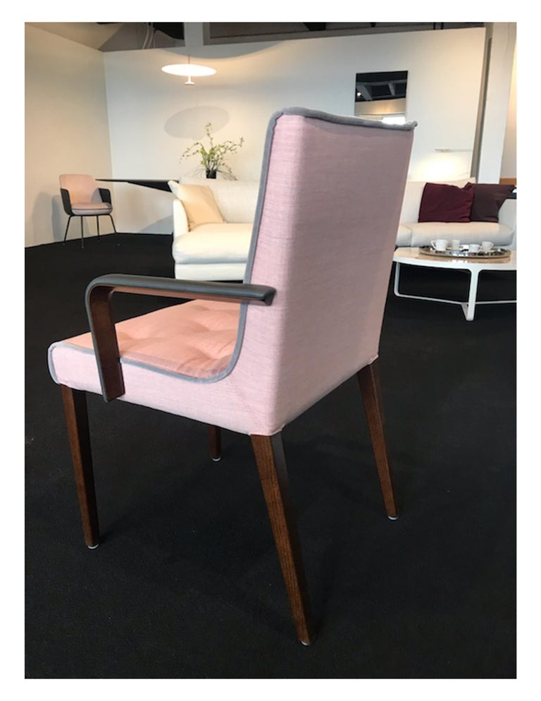 Wittmann Set of Two Pink Leslie Armchairs For Sale 1