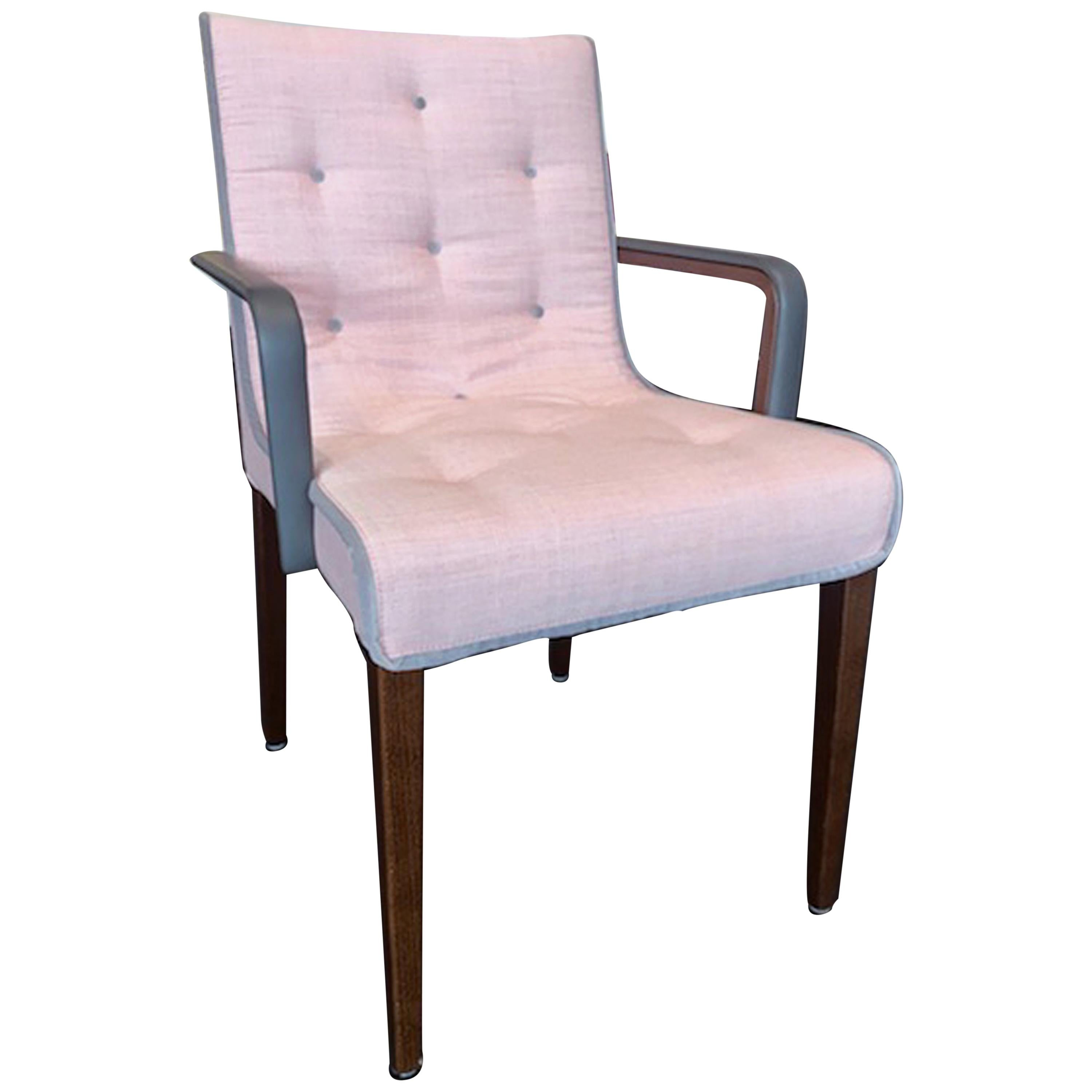 Wittmann Set of Two Pink Leslie Armchairs