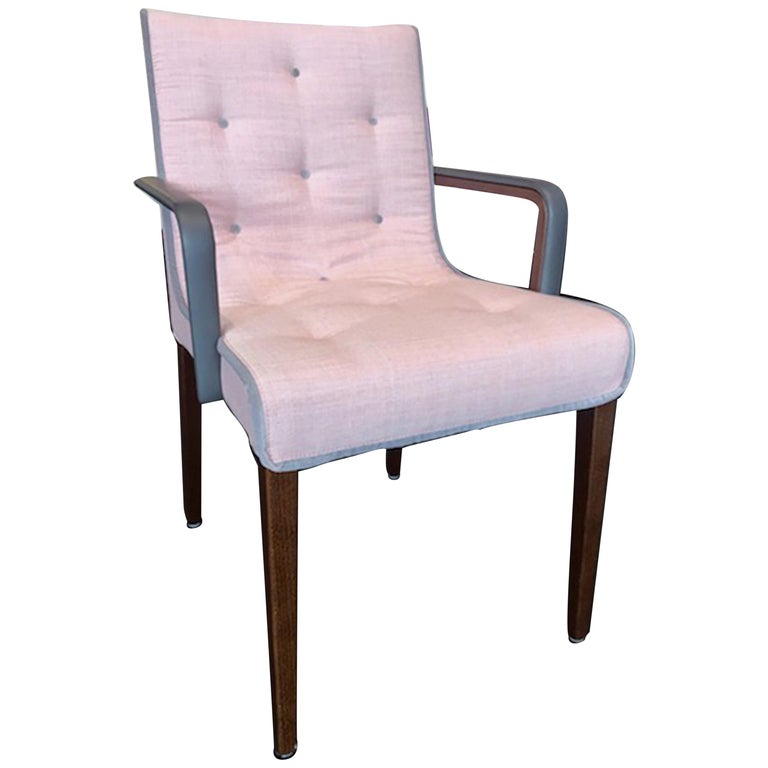 Wittmann Set of Two Pink Leslie Armchairs For Sale
