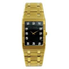 Wittnauer Barrymore Steel Gold Tone Black Dial Men's Watch 11D17