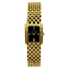 Wittnauer Gold Tone Steel Diamonds Swiss Quartz Womens Watch