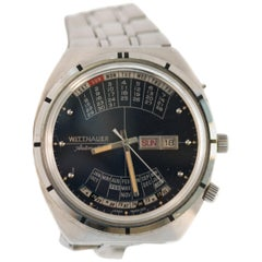 Wittnauer Stainless Steel 2000 Perpetual Calendar Automatic Wristwatch, 1970s