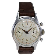 Wittnauer Stainless Steel High Grade Chronograph with Original Dial, 1950's