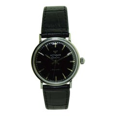 Wittnauer White Gold Filled Midcentury Dress Style Wristwatch