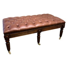 WIV Style Gillows Designed Leather Upholstered Stool