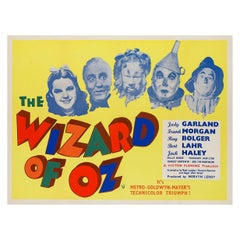 Wizard of OZ UK Film, Movie Poster, 1959