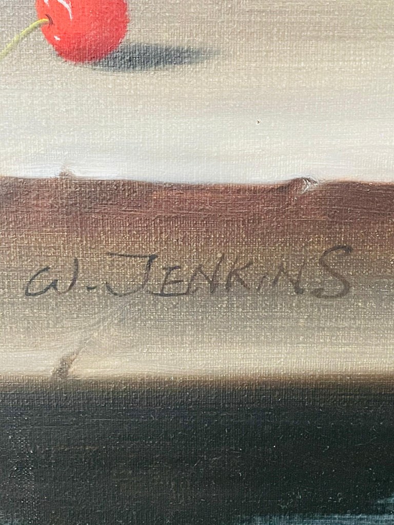 W.Jenkins Large Still Life Fruits Oil on Canvas Painting For Sale 5
