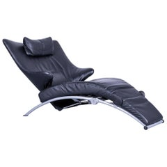 WK Wohnen Solo 699 Designer Chair Leather Black Function Couch Modern