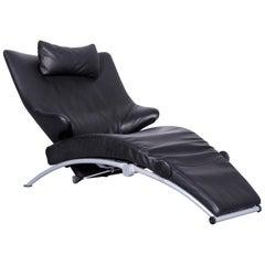 WK Wohnen Solo 699 Designer Leather Chair Black One-Seat