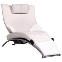 WK Wohnen Solo 699 Designer Leather Chair Crème One-Seat