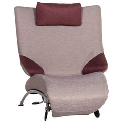 WK Wohnen Solo 699 Fabric Lounger Gray Purple Relax Lounger Armchair Relax