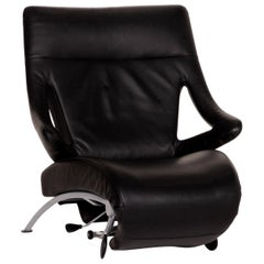 Wk Wohnen Solo 699 Leather Armchair Black Function Relax Chair Relax Function