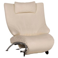 Wk Wohnen Solo 699 Leather Armchair Cream Lounger Relaxation Function