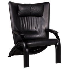 WK Wohnen Spot 698 Leather Armchair Black Relax Function