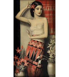 Beautiful Exotic Female Art Deco