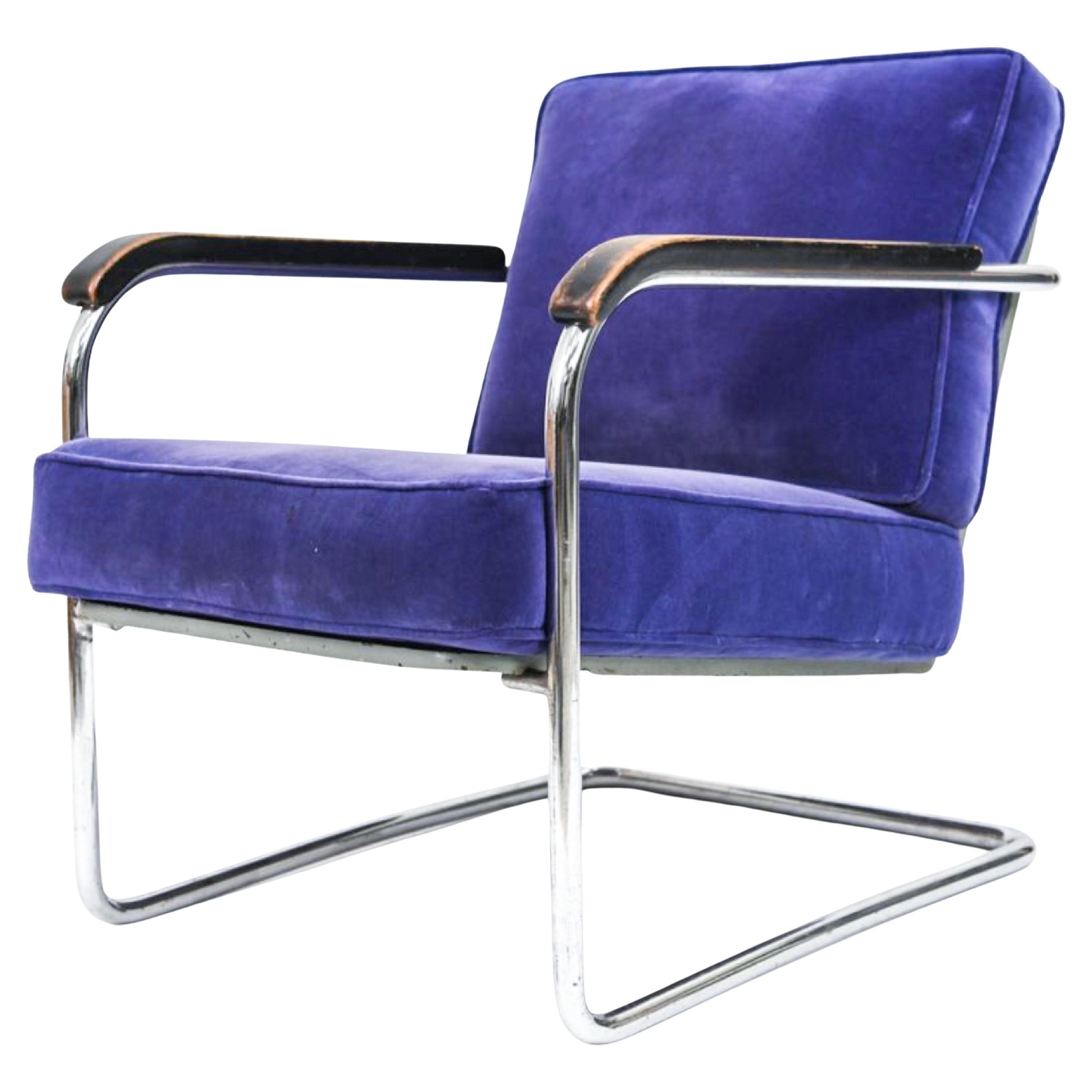 Werner Max Moser for Embru Wohnbedarf WM1 Lounge Chair Zurich, Switzerland, 1939