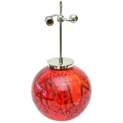 WMF Art Deco Glass and Chrome Sphere Lamp