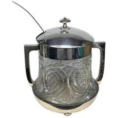 W.M.F. Art Deco Silver Plated Punch Bowl, circa 1930