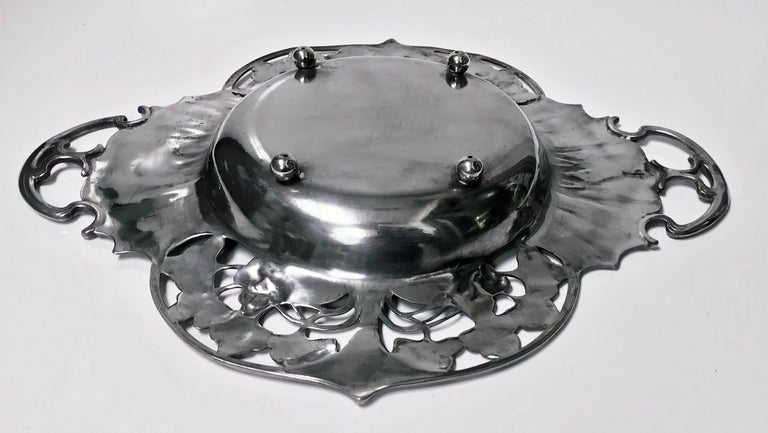 20th Century WMF Art Nouveau Pewter Two Handled Dish Bowl, Germany, circa 1900 For Sale
