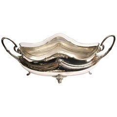WMF Art Nouveau Silver Plated and Cut Glass Jardinière Dated circa 1900