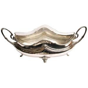 WMF Art Nouveau Silver Plated and Cut Glass Jardinière Dated circa 1900