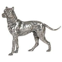 WMF German Jugendstil Silver Plated Large Hound by Fritz Diller
