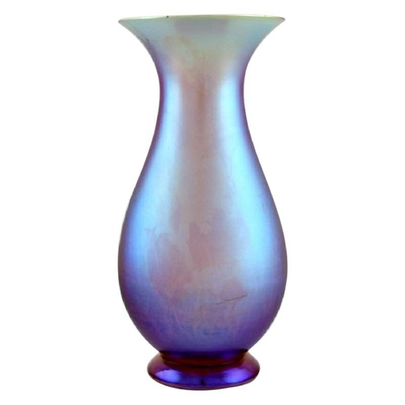 Wmf, Germany, Vase in iridescent myra art glass, 1930s