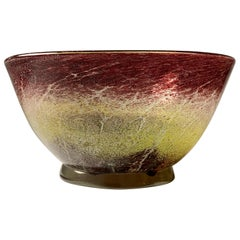 "WMF ""Ikora"" Art Glass Centerpiece Bowl by Karl Wiedmann"