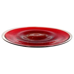 WMF Ikora Handmade Red Crystal Bowl, 1970s