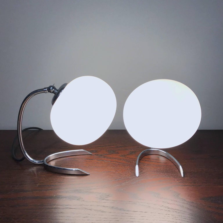 WMF Ikora Horseshoe Art Deco Bedside Lamps, 1930s, Germany In Good Condition For Sale In Vienna, AT