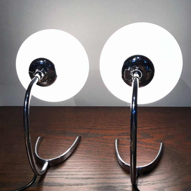 Mid-20th Century WMF Ikora Horseshoe Art Deco Bedside Lamps, 1930s, Germany For Sale