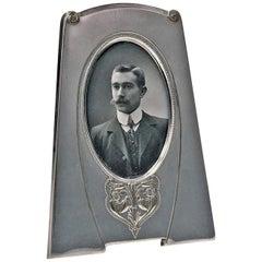 W.M.F Jugendstil Art Nouveau Silver Plate Photograph Frame, Germany, circa 1910