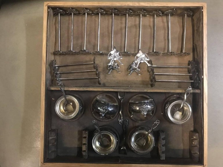 WMF Rare Art Nouveau Silver Plated Cutlery Set for 24 Persons For Sale 5
