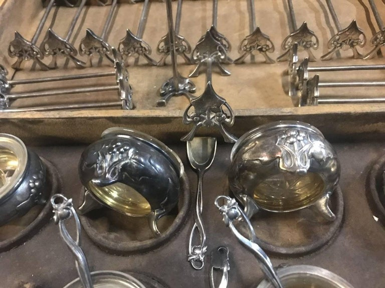 WMF Rare Art Nouveau Silver Plated Cutlery Set for 24 Persons For Sale 7
