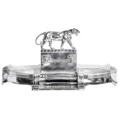 W.M.F. Silver Plate Jardinière with Glass, Art Deco Period, Germany, circa 1920