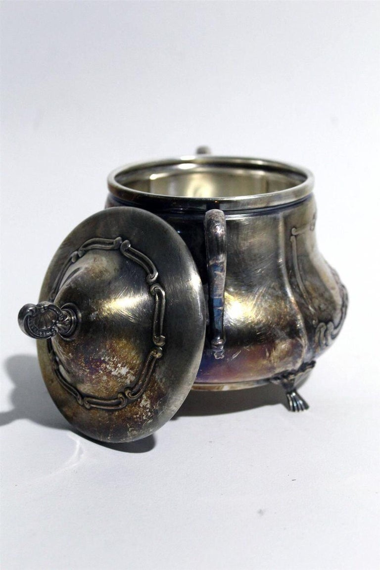 WMF Silver Plated Chippendale Tea Coffee Set, circa 1920, Made in Germany For Sale 4