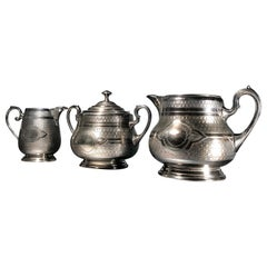 WMF Sterling Silver Art Nouveau Tea Set, circa 1905