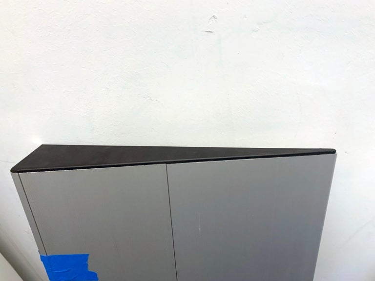 Wogg Set of Two Taro Aluminium Wall Shelves In Good Condition For Sale In New York, NY