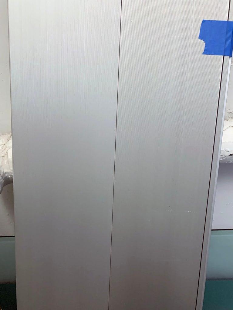 Aluminum Wogg Set of Two Taro Aluminium Wall Shelves For Sale