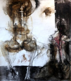 Adoration Figurative Abstract On Paper